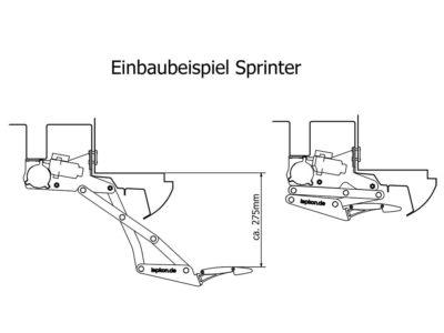 Einbaubeispiel Sprinter